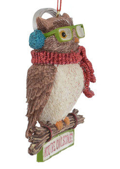 You're Owlsome Owl Ornament right side