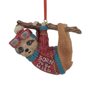 Born to Be Mild Sloth Ornament