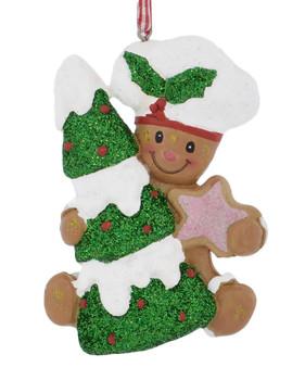 Baker Hat Gingerbread Boy Ornament star front