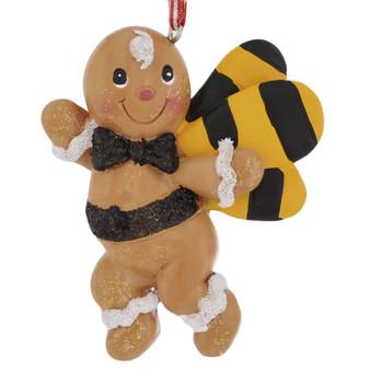Gingerbread Garden Bee Ornament