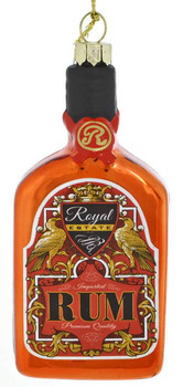 Classic Bottle of Rum Glass Ornament