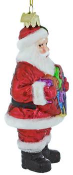 Autism Awareness Heart Santa Ornament right side