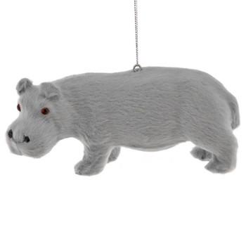 Furry Safari Animal - Hippo Ornament