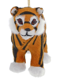 Furry Jungle Animal - Tiger Ornament front