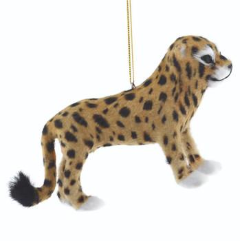 Furry Safari Animal - Leopard Ornament