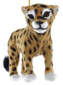 Furry Safari Animal - Leopard Ornament front