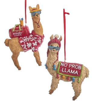 "Humorous Sayings Llama Ornament, 4"", KAE0293-L"