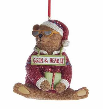 """Fun Grin and Bear It Bear Ornament, 3"""", KAE0300-g"""
