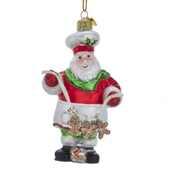 """Gingerbread Santa with Mouse Ornament, 5"""", KANB1422"""