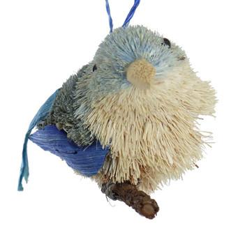 Buri Bristle Bird on a Branch Bluebird Ornament front