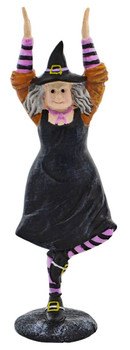 Fun Yoga Witch Halloween Figurine standing front