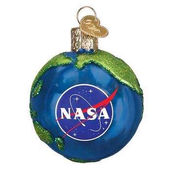 "NASA Earth Glass Ornament, 2 1/2"", OWC# 22039"