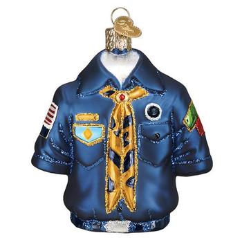 Scout Uniform Glass Ornament