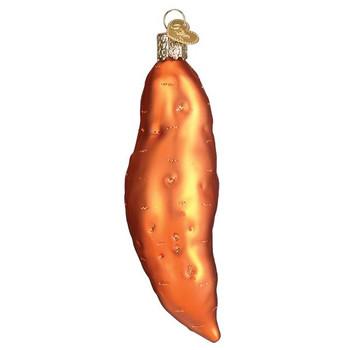 Sweet Potato Glass Ornament