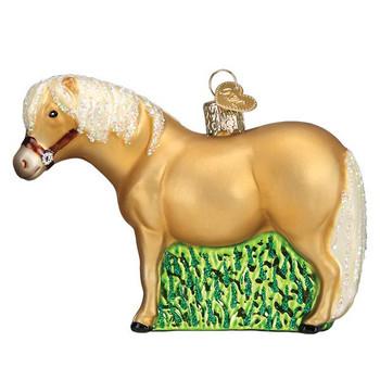 Shetland Pony Glass Ornament