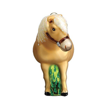 Shetland Pony Glass Ornament front