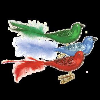Brilliant Songbird Glass Ornament