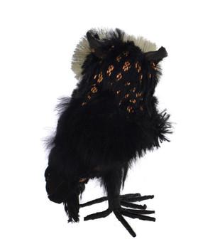 "Small Bristle Eyes Soft Fabric Owl Halloween Figurine, 5 1/2"", ST2491520"