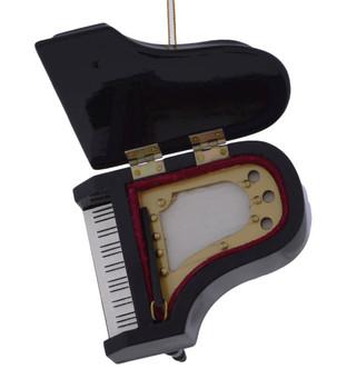 Black Grand Piano Ornament under lid