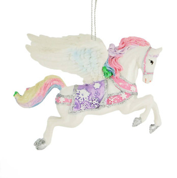 Pastel Fantasy White Pegasus Ornament