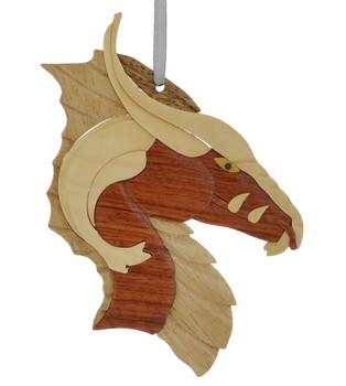 Fierce Dagon Intarsia Wood Ornament