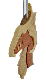 Fierce Dagon Intarsia Wood Ornament left side front