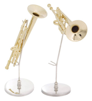 Mini Trumpet 3 pc Gift Set - Decor with Display Stand, Case in 1