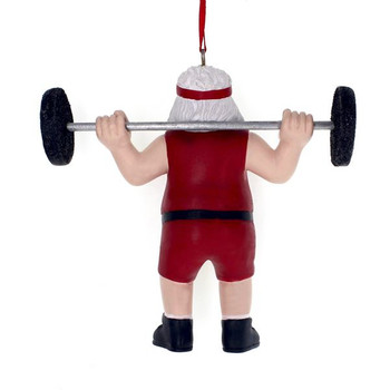 "Barbell Weightlifter Ornament, 3 7/8"", KAA1861"