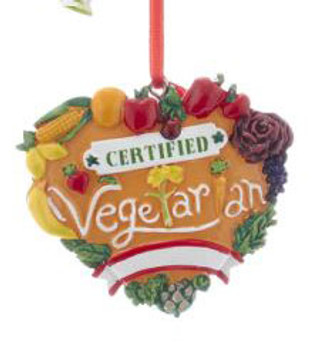 "Healthy Food Vegetarian Ornament, 2 1/2"", KAA1867-vt"
