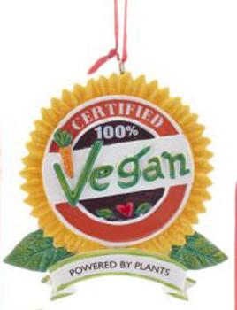 "Healthy Food Vegan Ornament, 2 3/4"", KAA1867-vn"