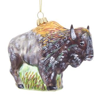 "Spirit of the Buffalo Glass Ornament, 3 1/2 x 41/2"", KANB1469"