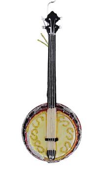 Sparkling Banjo Glass Ornament