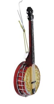 Sparkling Banjo Glass Ornament right front
