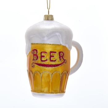 "Foaming Draft Beer Glass Ornament, 4 1/4"", KANB1506"