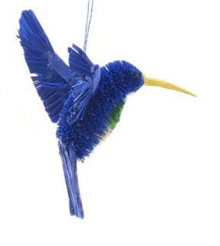 """Buri Hummingbird Ornament - Blue, 4 1/2 - 5 1/4"""", KAS0742-b"""
