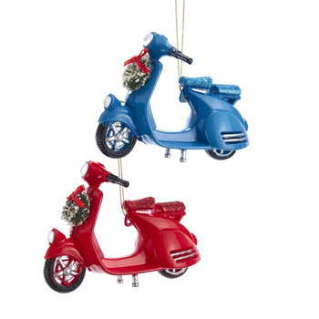 """Moped - Motor Scooter Ornament, 3 1/2 x 4 1/2"""", KAT2630"""