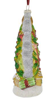Artistic Christmas Tree Glass Ornament left side