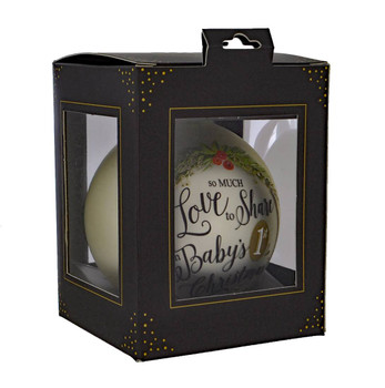 Loving Baby's 1st Christmas Glass Ball Ornament in gift box