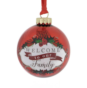 Welcome to our Family Ball Ornament