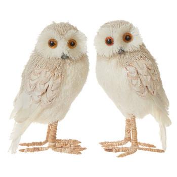"Woodland Sparkle Tan Owl Figurine, 6"" Small, RA3903442"