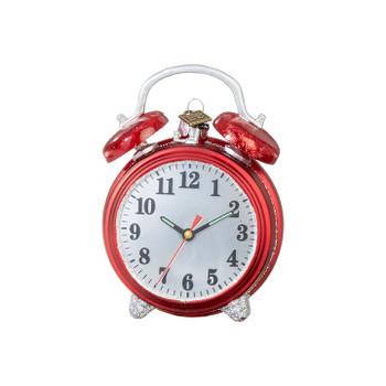 "Christmastime Alarm Clock Glass Ornament, 4 1/2"", RA3953043"