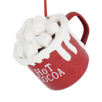 Hot Cocoa with Marshmallows Metal Mug Ornament