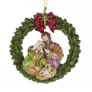 "Nativity Wreath Ornament, 4 1/4"", KAE0292"