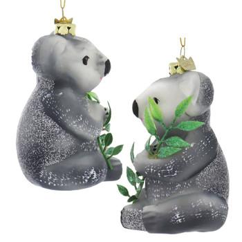 Sitting Koala Bear Glass Ornament left right side