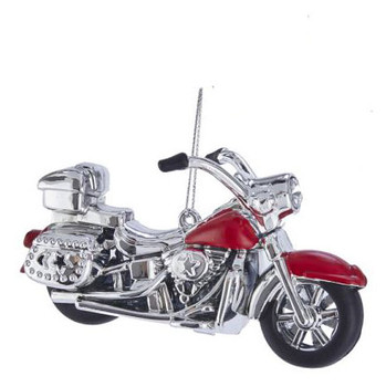 """Ready to Ride Red Motorcycle Ornament, 2 5/8 x 4 7/8"""", KAT2632-r"""