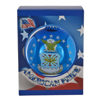 Fly-Fight-Win Air Force Flag Glass Ornament
