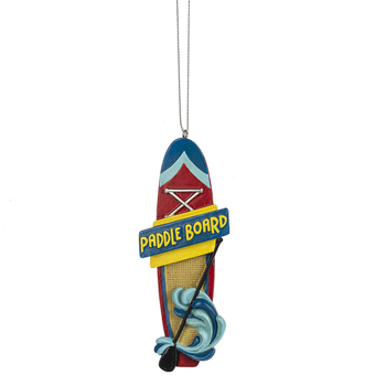 """Ride the Waves Paddleboard Ornament, 4 1/2"""", MW162345"""