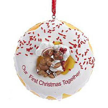 """Donut Our First Christmas Ornament, 4"""", KAD3603"""