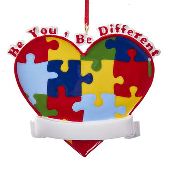 """Be You Autism Awareness Ornament, 3"""", W8450"""