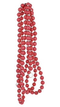 Red Beaded Tree Garland all red